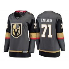 Women's Vegas Golden Knights #71 William Karlsson Gray 2018 Fanatics Breakaway Jersey