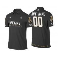 Vegas Golden Knights Branded Black 2018 Custom Polo