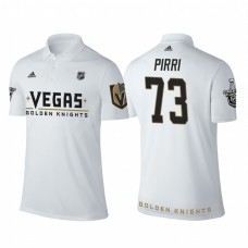 Vegas Golden Knights #73 Brandon Pirri white 2018 Stanley Cup Polo Shirt