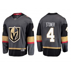 Vegas Golden Knights #4 Breakaway Player Grey Home 2018 Fanatics Branded Jersey