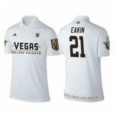 Vegas Golden Knights #21 Cody Eakin white 2018 Stanley Cup Polo Shirt