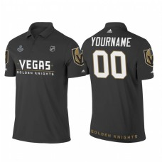 Custom Vegas Golden Knights Heather Gray 2018 Stanley Cup Final Name and Number Polo Shirt