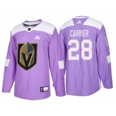 Vegas Golden Knights #28 Purple Hockey Fights Cancer William Carrier Jersey