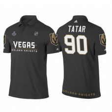 Vegas Golden Knights #90 Tomas Tatar Heather Gray 2018 Stanley Cup Final Name and Number Polo Shirt