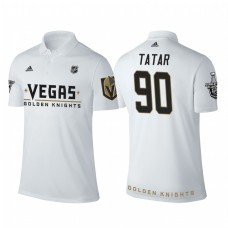 Vegas Golden Knights #90 Tomas Tatar white 2018 Stanley Cup Polo Shirt