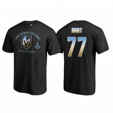 Vegas Golden Knights #77 Brad Hunt 2018 Western Conference Champion Match Penalty Name and Number T-shirt Black
