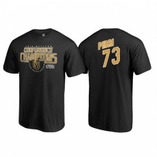 Vegas Golden Knights #73 Brandon Pirri Western Conference Champions 2018 Interference Name and Number Black T-shirt