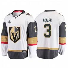 Vegas Golden Knights #3 Brayden McNabb 2018 Stanley Cup Final Breakaway Road White Jersey