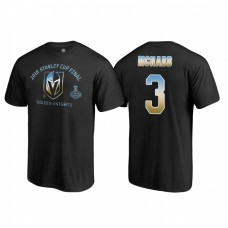 Vegas Golden Knights #3 Brayden McNabb 2018 Western Conference Champion Match Penalty Name and Number T-shirt Black