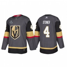 Vegas Golden Knights #4 Clayton Stoner 2018 Stanley Cup Final Bound Patch Authentic Gray Jersey