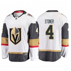 Vegas Golden Knights #4 Clayton Stoner 2018 Fanatics Branded Breakaway White Jersey
