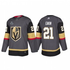 Vegas Golden Knights #21 Cody Eakin 2018 Stanley Cup Final Bound Patch Authentic Gray Jersey