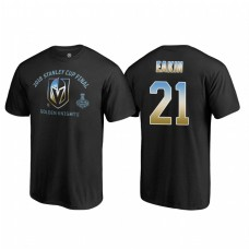 Vegas Golden Knights #21 Cody Eakin 2018 Western Conference Champion Match Penalty Name and Number T-shirt Black