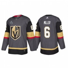 Vegas Golden Knights #6 Colin Miller 2018 Stanley Cup Final Bound Patch Authentic Gray Jersey