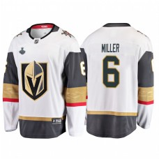 Vegas Golden Knights #6 Colin Miller 2018 Stanley Cup Final Breakaway Road White Jersey