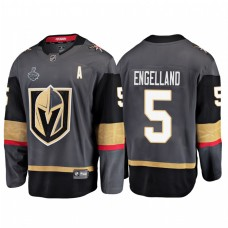 Vegas Golden Knights #5 Deryk Engelland 2018 Stanley Cup Final Bound Breakaway Home Gray Jersey