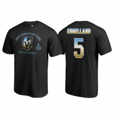 Vegas Golden Knights #5 Deryk Engelland 2018 Western Conference Champion Match Penalty Name and Number T-shirt Black