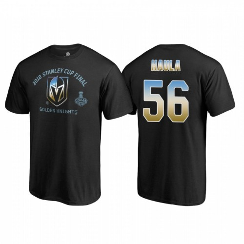 Vegas Golden Knights #56 Erik Haula 2018 Western Conference Champion Match Penalty Name and Number T-shirt Black