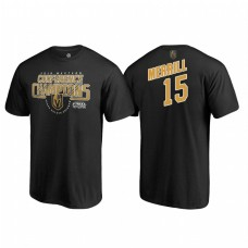 Vegas Golden Knights #15 Jon Merrill Western Conference Champions 2018 Interference Black T-Shirt
