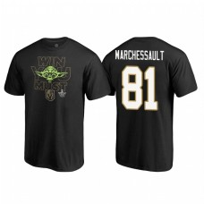 Vegas Golden Knights #81 Jonathan Marchessault Stanley Cup Playoffs 2018 Star Wars Win You Must Name and Number Black T-shirt