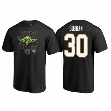 Vegas Golden Knights #30 Malcolm Subban Stanley Cup Playoffs 2018 Star Wars Win You Must Name and Number Black T-shirt