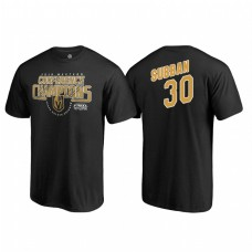 Vegas Golden Knights #30 Malcolm Subban Western Conference Champions 2018 Interference Name and Number Black T-shirt
