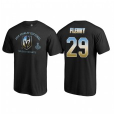 Vegas Golden Knights #29 Marc-Andre Fleury 2018 Western Conference Champion Match Penalty Name and Number T-shirt Black