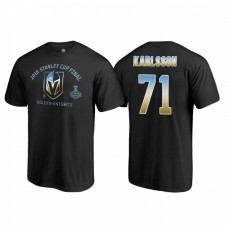 Vegas Golden Knights #71 William Karlsson 2018 Western Conference Champion Match Penalty Name and Number T-shirt Black