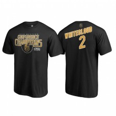 Vegas Golden Knights #2 Zach Whitecloud Western Conference Champions 2018 Interference Black T-Shirt