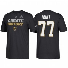 Vegas Golden Knights #77 Brad Hunt 2018 Stanley Cup Final Create History Name and Number Black T-Shirt