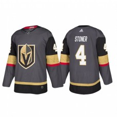 Vegas Golden Knights #4 Clayton Stoner Authentic Player Grey Home Jersey