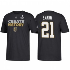 Vegas Golden Knights #21 Cody Eakin 2018 Stanley Cup Final Create History Black T-Shirt