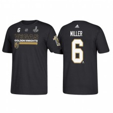 Vegas Golden Knights #6 Colin Miller 2018 Stanley Cup Final Bound Name and Number Black T-shirt