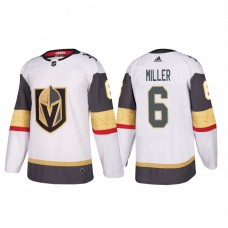 Vegas Golden Knights #6 Colin Miller Authentic Player White Away Jersey