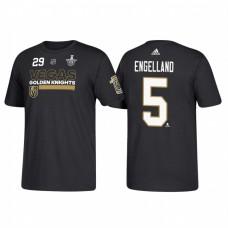 Vegas Golden Knights #5 Deryk Engelland 2018 Stanley Cup Playoffs Participant Black T-Shirt