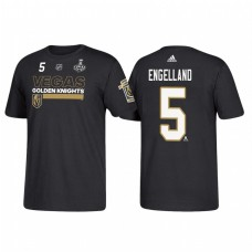 Vegas Golden Knights #5 Deryk Engelland 2018 Stanley Cup Final Bound Name and Number Black T-shirt