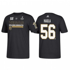Vegas Golden Knights #56 Erik Haula 2018 Stanley Cup Final Bound Name and Number Black T-shirt