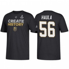 Vegas Golden Knights #56 Erik Haula 2018 Stanley Cup Final Create History Name and Number Black T-Shirt