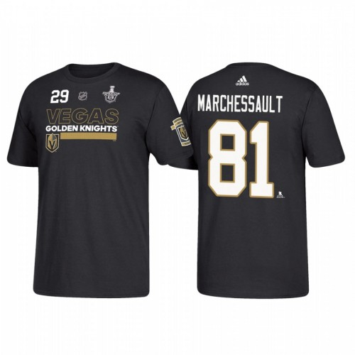 Vegas Golden Knights #81 Jonathan Marchessault 2018 Stanley Cup Playoffs Participant Black T-Shirt