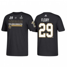 Vegas Golden Knights #29 Marc-Andre Fleury 2018 Stanley Cup Final Bound Name and Number Black T-shirt