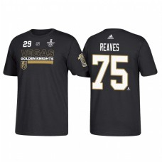 Vegas Golden Knights #75 Ryan Reaves 2018 Stanley Cup Playoffs Participant Black T-Shirt