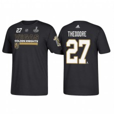 Vegas Golden Knights #27 Shea Theodore 2018 Stanley Cup Final Bound Name and Number Black T-shirt