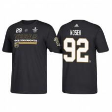 Vegas Golden Knights #92 Tomas Nosek 2018 Stanley Cup Playoffs Participant Black T-Shirt