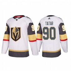 Vegas Golden Knights #90 Tomas Tatar Authentic Player White Away Jersey