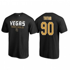 Vegas Golden Knights #90 Tomas Tatar 2018 Stanley Cup Final Goes Gold Name and Number Black T-Shirt