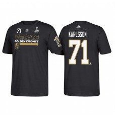 Vegas Golden Knights #71 William Karlsson 2018 Stanley Cup Final Bound Name and Number Black T-shirt