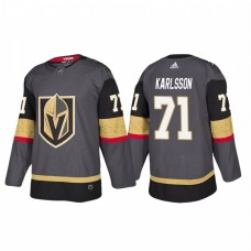 Vegas Golden Knights #71 William Karlsson Authentic Player Grey Home Jersey