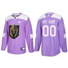 Vegas Golden Knights #00 Purple Hockey Fights Cancer Custom Jersey