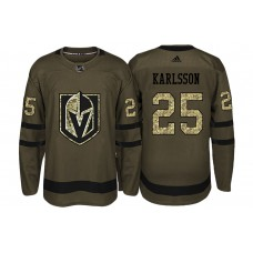 Vegas Golden Knights #25 William Karlsson Camo 2018 Salute To Service Jersey