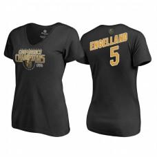 Women's Vegas Golden Knights #5 Deryk Engelland Western Conference Champions 2018 Interference V-Neck Black T-Shirt